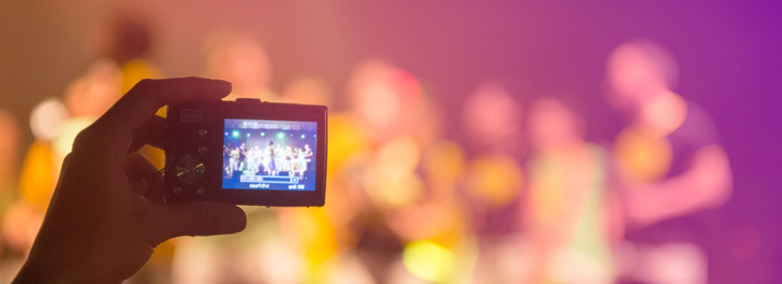 Event solutions; camera in crowd